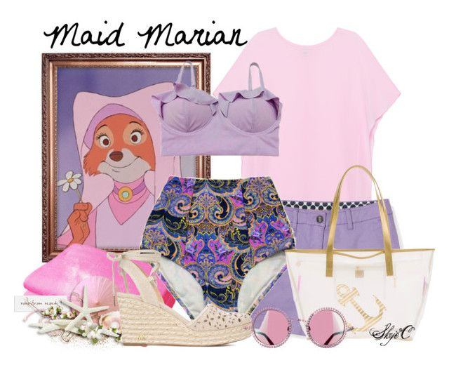 """Maid Marian - Summer / Beach - Disney's Robin Hood"" by rubytyra ❤ liked on Polyvore featuring Pinko, Boden, Luxor Linens, MICHAEL Michael Kors and MACBETH"