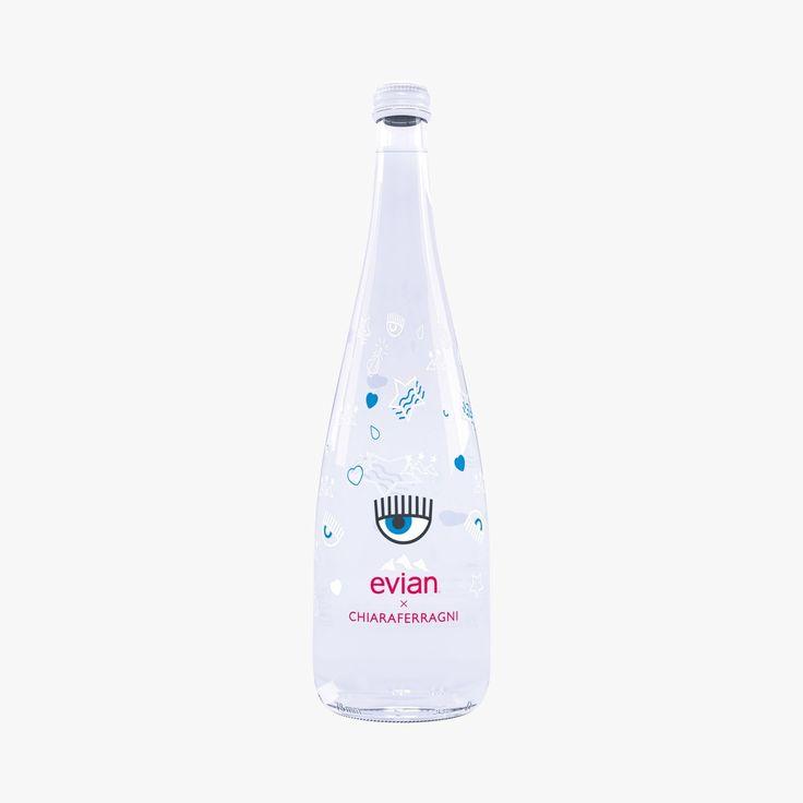 Eau minérale naturelle - Bouteille Evian X Chiara Ferragni - Evian - Find this product on Bon Marché website - La Grande Epicerie de Paris