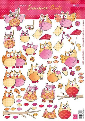Ak0058 Knipvel Eline's summer owls 2