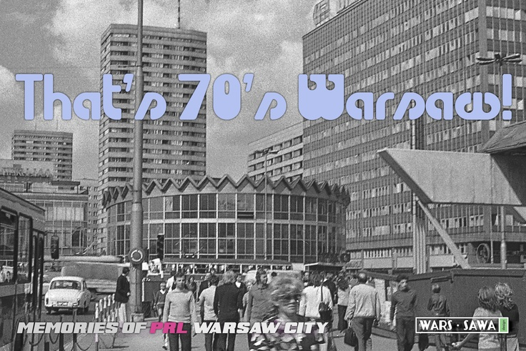 That's 70's Warsaw! Postcard by Wars Sawa Design, Warszawa, Warsaw, Memories of PRL.