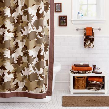 Marvelous Bathroom Decorating Ideas: Teen Camo Bathroom
