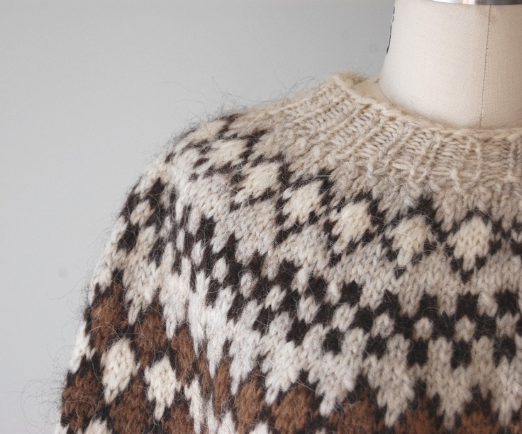 1970s icelandic wool sweater
