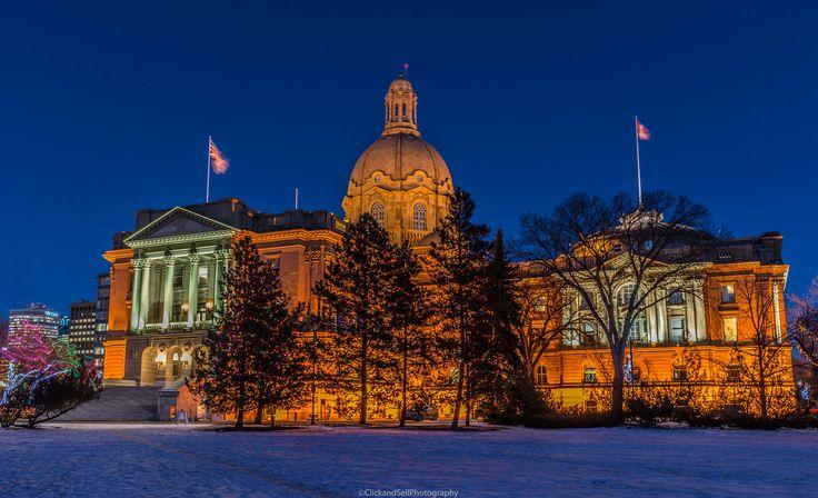 Christmas Lights at the Legislature Building in Edmonton, Alberta