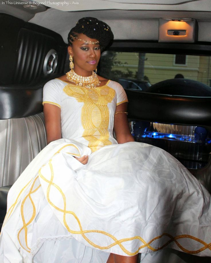 My Wedding Gown While In The Limo The Train Was Very Long It Is Senegalese Wedding Dress With