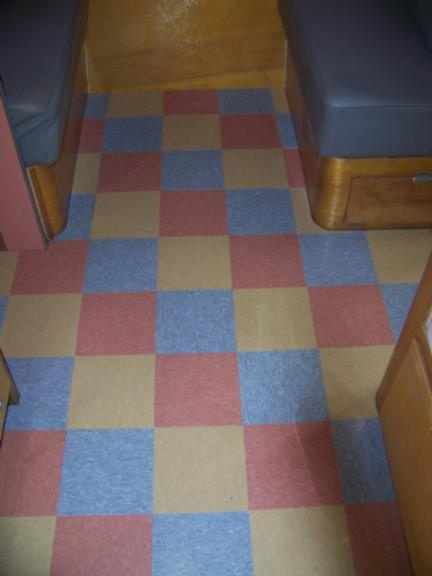 78 best vintage caravan vinyl lino floors images on for Vintage linoleum flooring