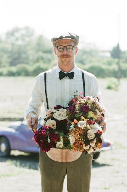 Steam Punk Wedding.. love the flowers!