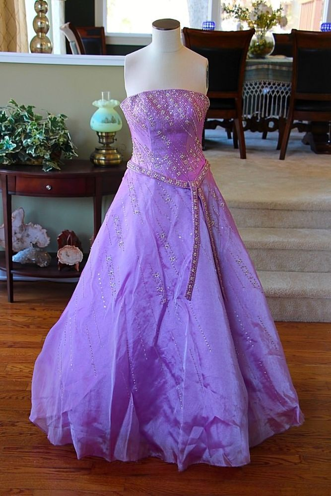 Tiffany Designs Purple Magenta Orchid Bridesmaid Prom Dress Formal Gown Size 2