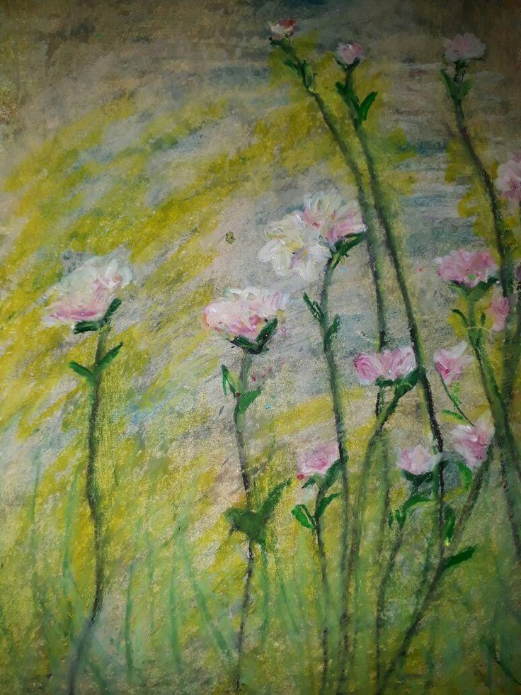 Oil pastel on papper,20x30
