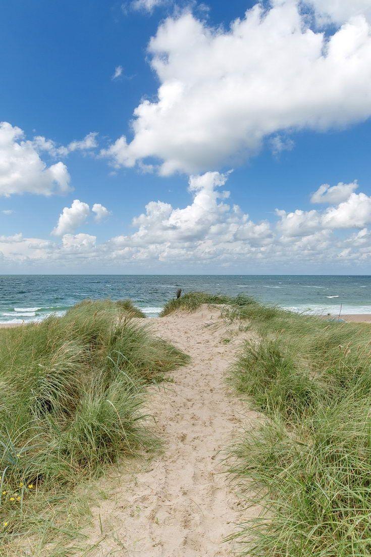Weg durch Dünen auf der Insel Sylt – Westerland, Nordsee