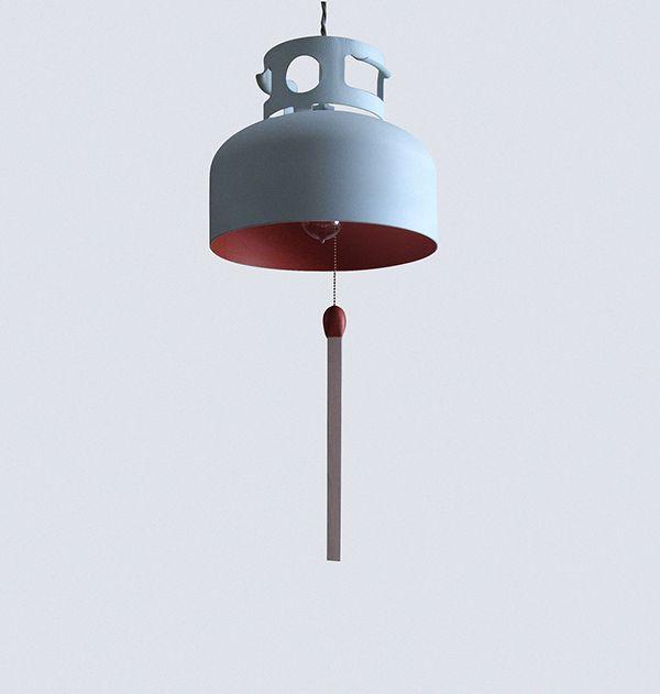 DESIGN: Felix Guyon & La Firme // CLIENT: La FirmeL'allumeuse est une lampe ludique conçue à partir d'un réservoir de propane. Outre un charme esthétique évident, elle propose un regard ironique sur le développement de l'éclairage et notre relation aux c…