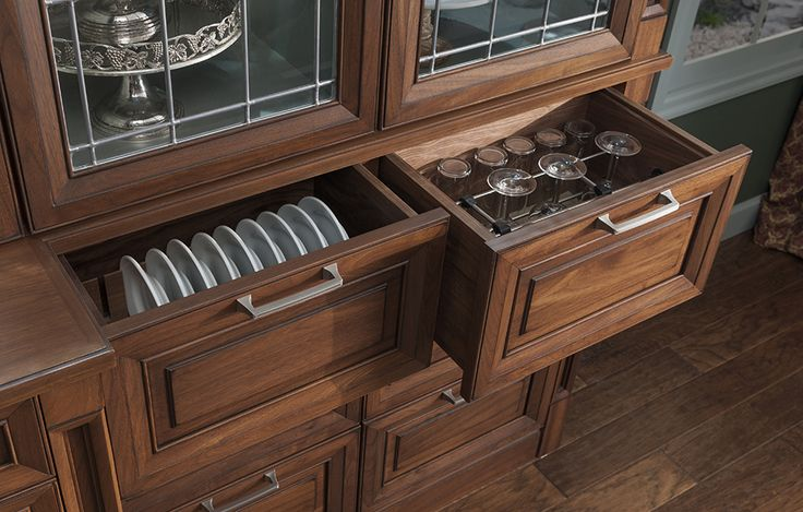 Plate Dividers and Stemware Storage | Wood-Mode | Fine Custom Cabinetry