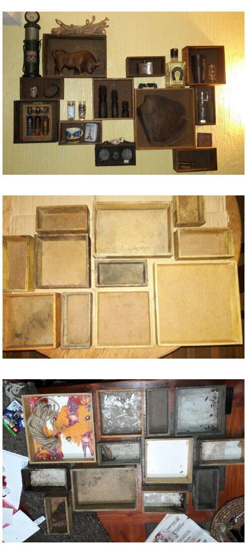 Wood proyect 1 Madera reciclada Cuadro de pared