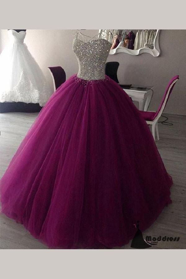 Engrossing Evening Dresses Long, Evening Dresses Purple, Evening Dresses 2019, Ball Gown Prom Dress