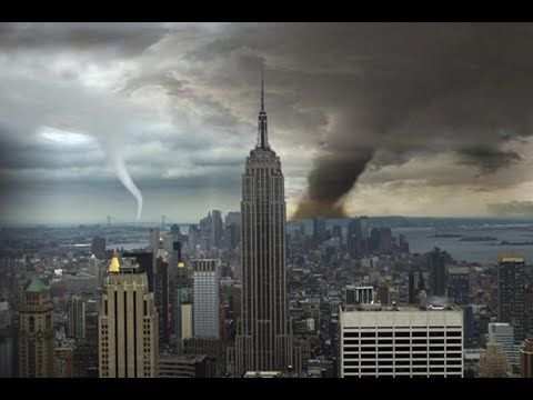BREAKING NEWS: Dramatic New York tornadoes 'shake house' & send cars int...