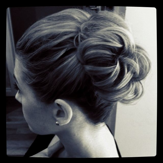 Wedding Hairstyle Messy Bun: Messy High Bun Wedding Bridal Hair Bride