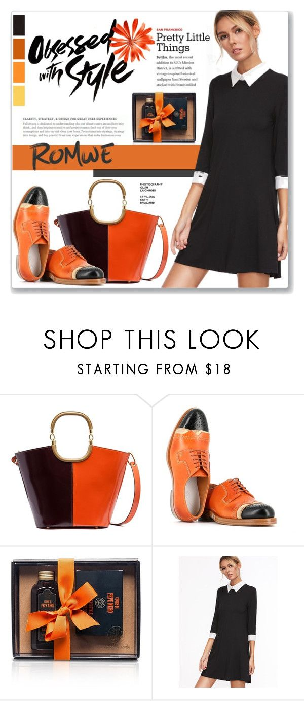 """""""Collar and Cuff Swing Dress : Pumkin Colors"""" by atikazahra on Polyvore featuring Marni and Maison Margiela"""