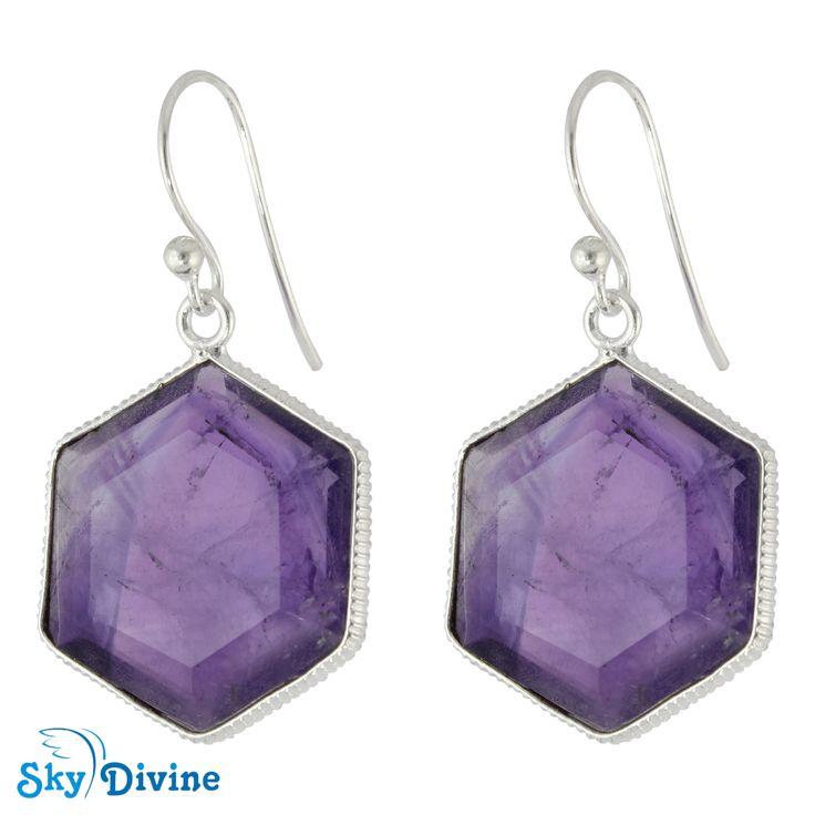 Sky Divine - 925 Sterling Silver amethyst Earring SDER2157 SkyDivine Jewelry, $83.90 (http://www.skydivine.com.au/925-sterling-silver-amethyst-earring-sder2157-skydivine-jewelry/)