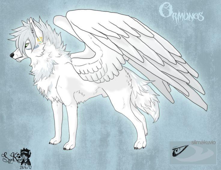 Atemberaubend Anime Wolf Mit Flügel Malvorlagen Bilder - Beispiel ...