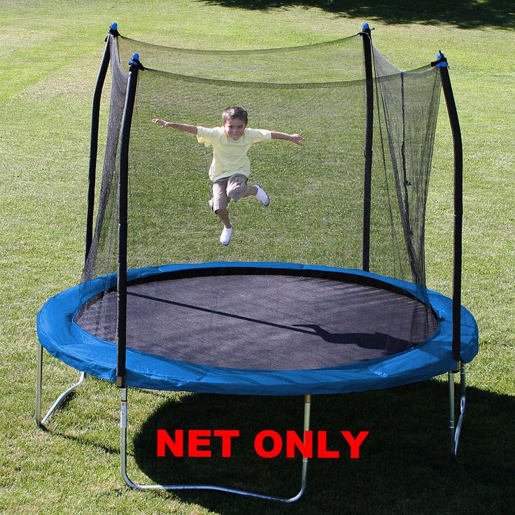 11' ft. with 4-Straps/Buckles Trampoline Parts Replacement Safety Net, fits all brands of Round 11' & 4- Pole or 2-Arch Trampoline Safety Enclosures by Trampoline Part Store