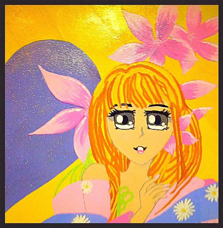 """ My Fairy Lady"", acryl on canvas."