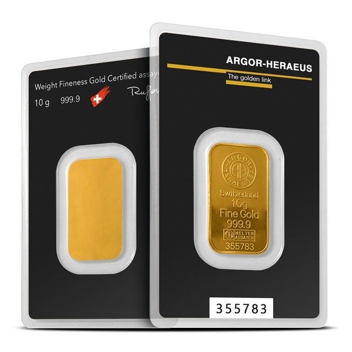 10 Gram Gold Bar Argor Heraeus Gold Bars For Sale Gold Bar Gold