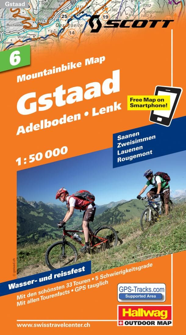 Gstaad, Lenk, and Adelboden Mountainbike Map by Hallwag