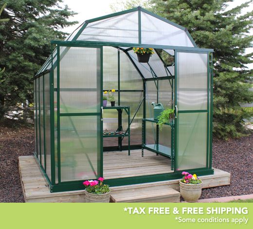 Grandio Elite 8x8 Greenhouses are now extendable. These are the strongest greenhouses on the market with 10mm twin wall polycarbonate panels, snow load kits and base kits included in the basic greenhouse packages.
