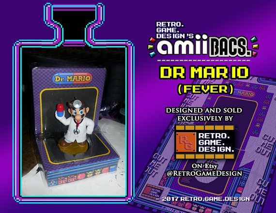 Super Smash Bros Dr Mario AmiiBac (Purple Fever)
