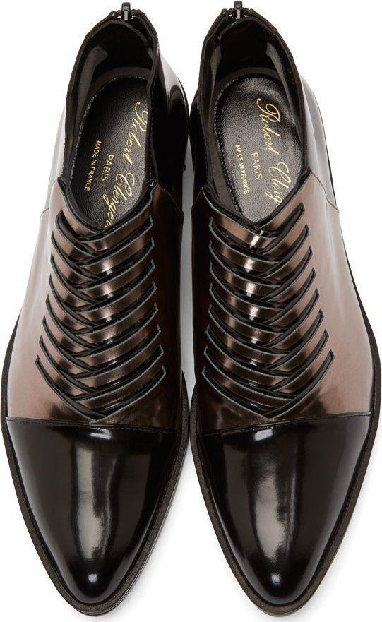 Robert Clergerie Black Woven Oreste Shoes