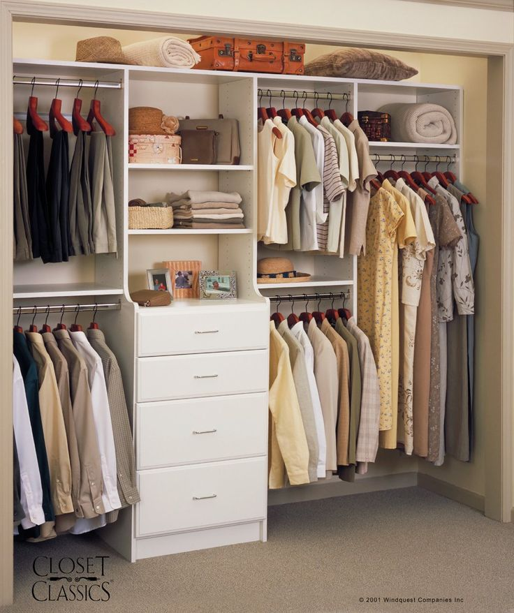 Closet System In White Home Organization Pinterest