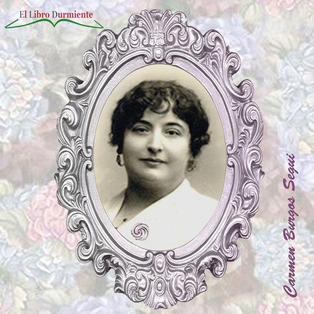 """""""Literatura escrita por mujeres"""" la #escritora y #periodista de Burgos, Carmen – El libro Durmiente  http://ellibrodurmiente.org/de-burgos-carmen/  La tarde, de primavera, estaba llena de promesas de fecundidad. El campo ofrecía ya la plenitud de la cosecha con las mieses que comenzaban a enrubiar y mecían las espigas de granos hinchados y lucientes. Un intenso olor a día de primavera lo envolvía todo de un modo penetrante.  Puñal de claveles, de Carmen de Burgos."""