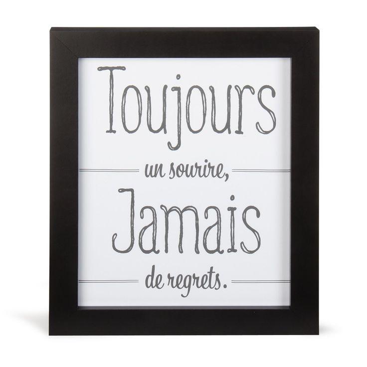 Toujours | Image encadrée 27x33cm Noir et blanc - Alinéa
