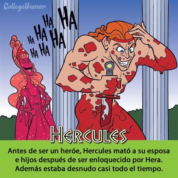 ilustración con la verdadera historia del cuento de Hércules
