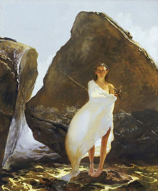 Sophomore at Bowdoin -- 48 x 40 inches, 1996, oil on panel --Jamie Wyeth