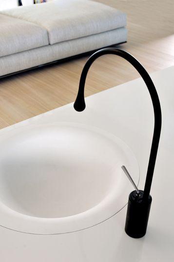 Gessi Goccia basin mixer black