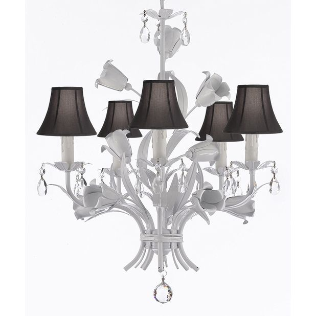 17 best ideas about Chandelier With Shades – White Chandelier with Shades