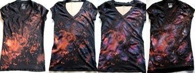How to paint a t-shirt. Warp Speed Galaxy Shirt - Step 5