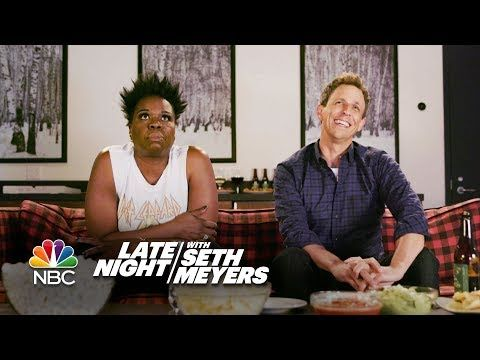 Game of Jones: Leslie Jones and Seth Return to Watch Game of Thrones | Leslie Jones joins Seth for a viewing party of their favorite show, HBO's Game of Thrones, and surprise guest Lord Varys (Conleth Hill) drops in on the fun. - Game of Thrones S7E04 'The Spoils of War' | Late Night with Seth Meyers