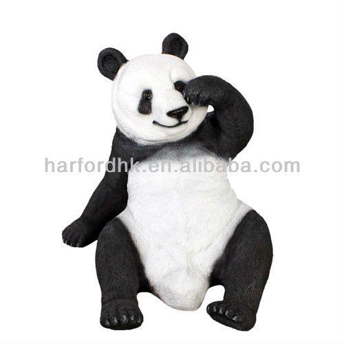 Panda   Fiberglass Resin Garden Animal Ornament #gardenstatuary #gardening # Panda #gardenstatue For