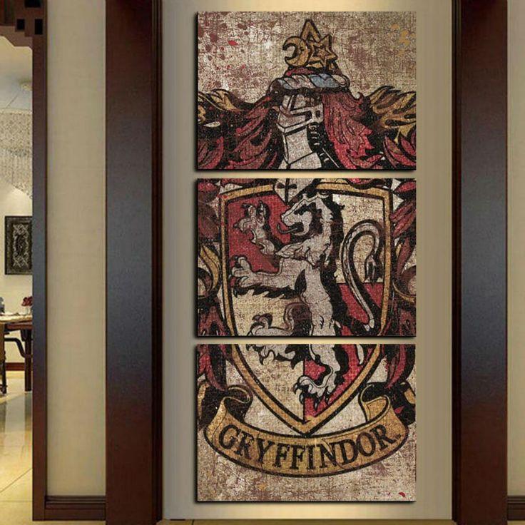 Gryffindor 3 Panels Canvas Art  FREE Shipping Worldwide.  Get it here:  https://thinkpotter.com/gryffindor-3-panels-canvas-art/    #harrypotter #hogwarts #hermionegranger #ronweasley #dumbledore #voldemort #emmawatson #danielradcliffe #rupertgrint #dracomalfoy #tomfelton #jkrowling #newtscamander #snape #lunalovegood #quidditch #goldensnitch