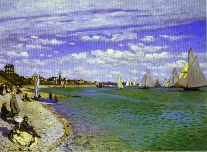 Die Regatta in Saint-Adresse, öl von Claude Monet (1840-1926, France)
