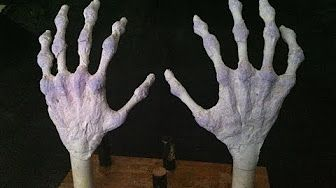 Make Halloween Skull Props Cheap and Easy - YouTube