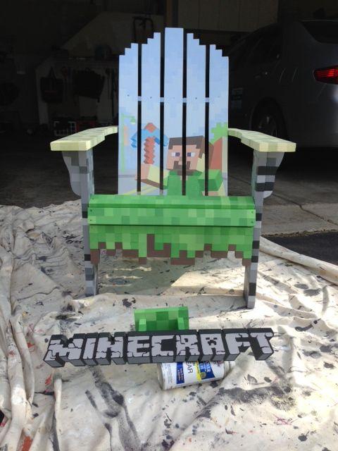 Minecraft lawn chair