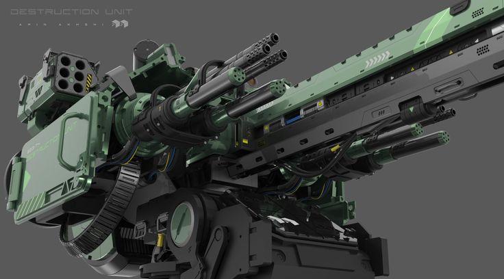 ArtStation - Destruction Unit ! close-up, Amin Akhshi