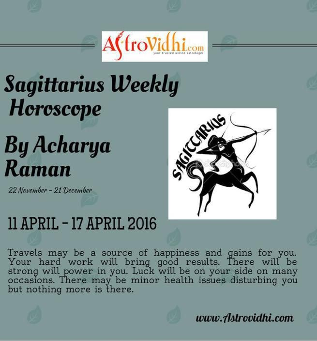 Read Sagittarius Weekly Horoscope to predict your day. Also visit our website to read more horoscope including love, career,  business and health.