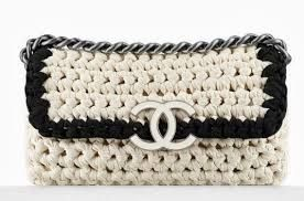 black and white crocheted