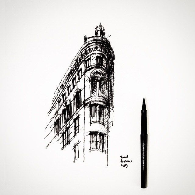 Sharp corner. #sketch #architecture | Flickr - Photo Sharing!