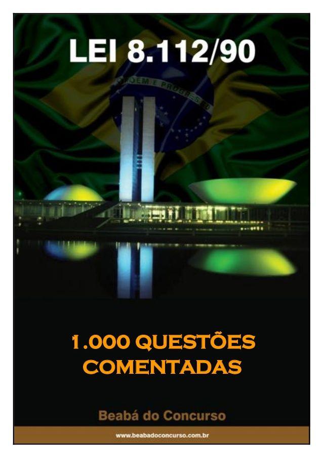 Lei 8.112 90 2012 1000 questões
