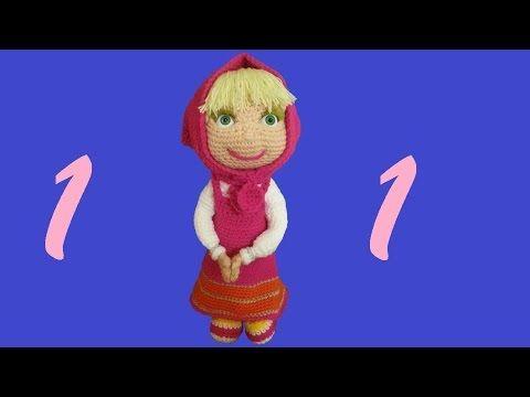 Ciaoooooo, eccomi con questo nuovo video sulla realizzazione della simpaticissima Masha !!!Ho usato lana acrilica e uncinetto numero 4 e mi è venuta circa 40...