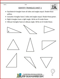 Printables Identifying Triangles Worksheet identify triangles worksheet davezan 1000 images about 2 d shape on pinterest